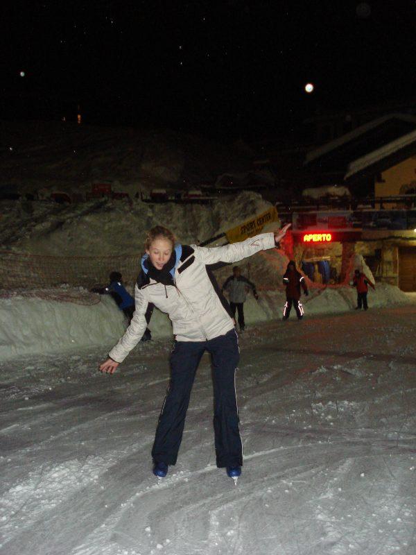 Cervinia outdoor ice rink