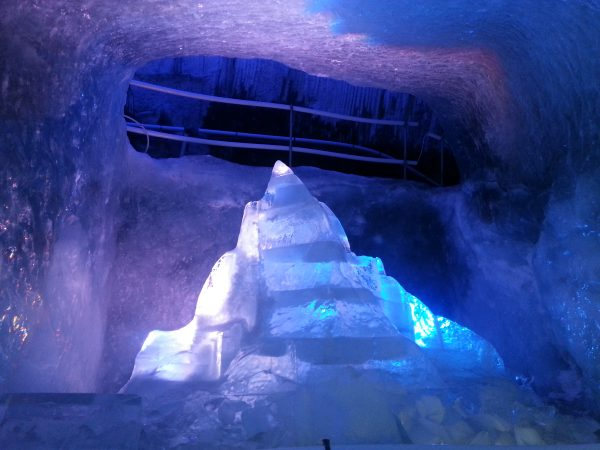 Ice Caves in the glacier